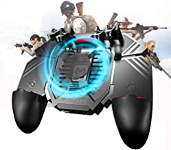 Newseego PUBG Mobile Game Controller, [Upgrade] 6 Finger Trigger Phone Controller Gamepad with Cooling Gamepad for Shooter Sensitive Aim Trigger for Android & iOS for Knives Out/Rules of Survival