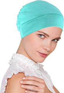 Womens Soft Comfy Chemo Cap and Sleep Turban, Hat Liner for Cancer Hair Loss