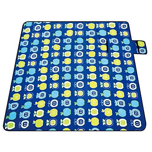 XQY Picknickdecken-Outdoor Fleece Picknickdecke Dickes großes Kind Tragbarer Rasenteppich 200 * 200Cm,Kleiner Apfel