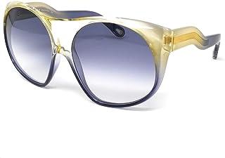 Chloe CE 731S 830 نظارة شمسية كبيرة الحجم بلاستيكية رمادية زرقاء عدسة متدرجة