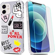 Sponsored Ad - Girl Power Phone Case for iPhone XR with Screen Protector,Boss Babe Pattern Soft & Flexible TPU Ultra-Thin ...