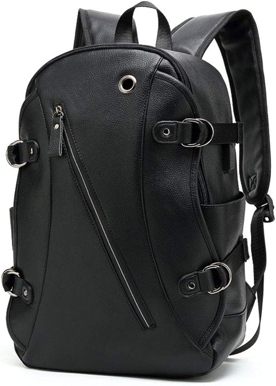IFDyj Rucksack Herrenmode Trends Einfache Freizeit Reise Rucksack Mnner 14 Zoll Student Computer Tasche (Farbe   Schwarz)