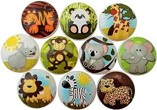 Set of 10 Safari Animal Wood Cabinet Knobs