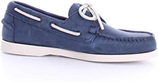 Luxury Fashion | Sebago Men 7000GA0908 Blue Leather Loafers | Spring-summer 20