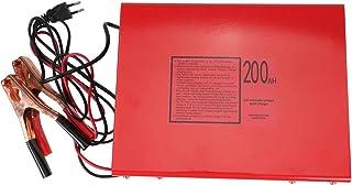 Carregador universal de bateria para carro 12V 24V carregador de bateria digital automático (vermelho)
