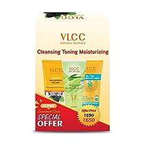 VLCC Anti Tan Face Wash (150ml), Ayurveda Aloevera gel (100gm) & D-tan Spf 50 Sunscreen (100gm), White