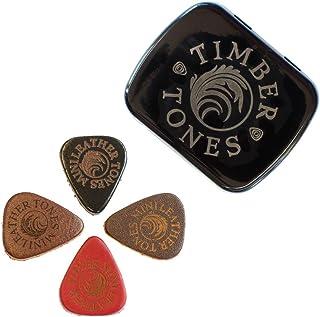Leather Tones Mini Tin of 4 Ukulele Picks, LEAM-MT-4