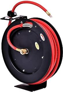 Goplus Auto Rewind Retractable Air Hose Reel, Hose Compressor, Max.300 PSI (3/8