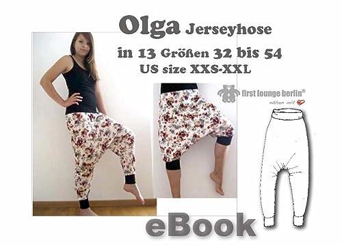 Olga Jersey-Hose Haremshose Nähanleitung mit Schnittmuster Gr. 30-54 [Download]