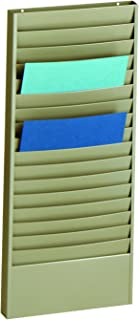 STEELMASTER Steel Job Ticket and Display Rack, 18 Compartments, 13.5 x 30 x 2 Inches, Beige (270171BEI)