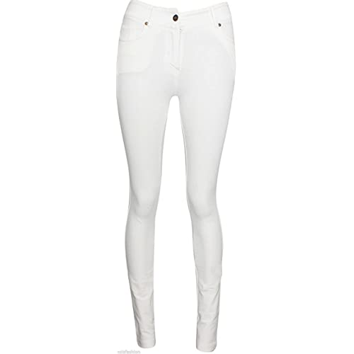 2120a935f45 FASHION OASIS LADIES SKINNY COLOURED ZIP UP JEGGINGS STRETCH TROUSER JEANS  LEGGINGS SIZES 8 10 12
