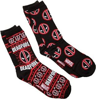 Marvel Deadpool Ugly Sweater 2-pack Adult Crew Socks