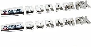 Yoaoo 2x OEM Allison Duramax Badges Emblems for Gm 2015 Silverado 2500Hd 3500Hd Hood (Chrome2)