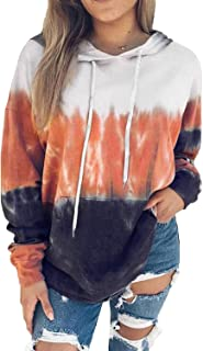 Women's Cowl Neck Leopard/Plaid/Solid Printed Patchwork Drawstring Pullover Sweatshirt Long Sleeve Tops