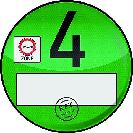 5x Haftfolie Euro 4 Plakette Grün Von Finest Folia Umweltplakette Feinstaubplakette Spassplakette R020 Auto