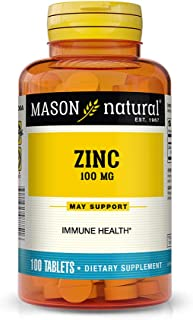 Mason Natural, Zinc Supplement, 100 Mg Tablets, 100-Count Bottles (Pack of 3), Dietary Supplement Supports A Healthy Immun...