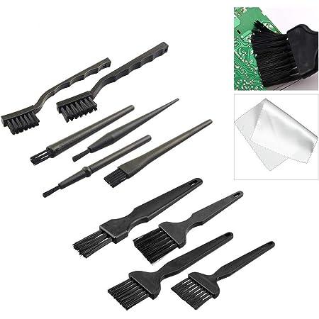 MIFU Cepillo de Limpieza Antiestático de Nylon Portátil 10 en 1 Kit para Teclado Ordenador ESD PCB