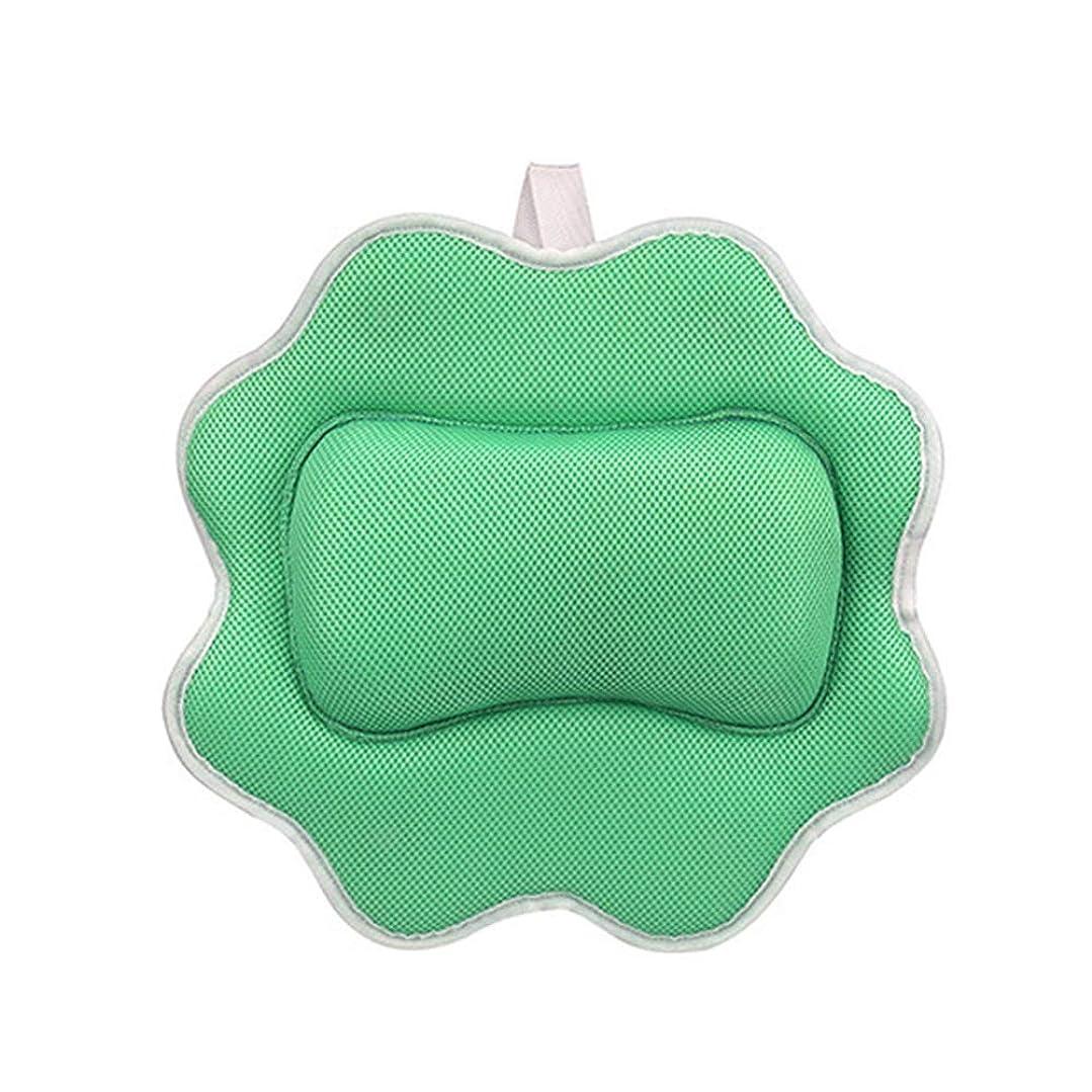 ネーピア社会主義パトロン防水バース枕、強力な吸引カップでホームスパヘッドレスト、ネッククッション性のサポートバース、ホームホットタブスパ(2個)のためにすべてのタイプのバスタブに適合,グリーン