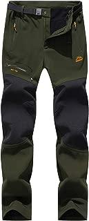 Pantalones de Montaña Hombre Impermeables Invierno Calentar Pantalones Trekking Escalada Senderismo Softshell