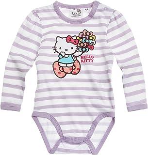 8168cb8ff Body para bebé de manga larga, diseño de rayas, color blanco y rosa Hello