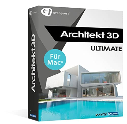 Architekt 3D X9 Ultimate - Die professionelle 3D-Haus- und Gartendesign-Lösung! Kompatibel mit MacOS 10.13 High Sierra [Download]