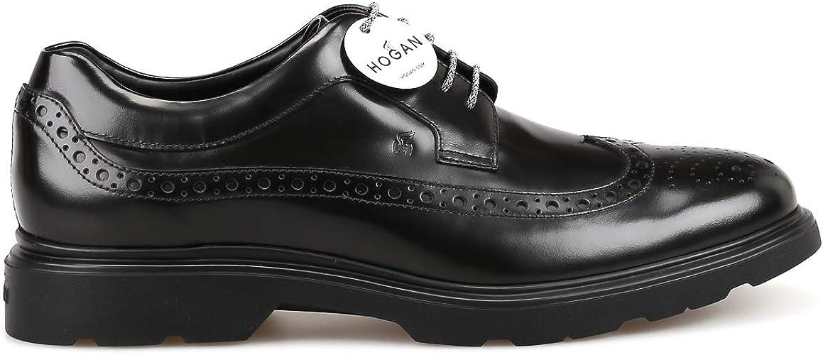 Amazon.com | Hogan H393 New Derby Black Shoes | Shoes