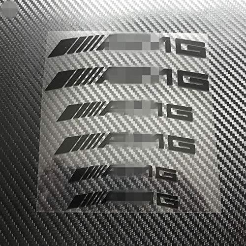 Mmhot Bremssattel Vinyl-Aufkleber-Abziehbilder, Caliper Logo Personalisierte Rad-Verpackungs-Reflektor-Streifen Auto Zeichen-Aufkleber (Color Name : AMG Black)