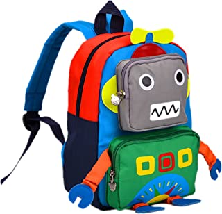 Kids Backpack Kindergarten Cartoon Schoolbag for Boys Girls Robot Backpack Green