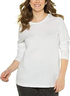 ULLA POPKEN Basic-Shirt, Rundhalsausschnitt, Slim, Baumwolle Maglietta a Maniche Lunghe Donna