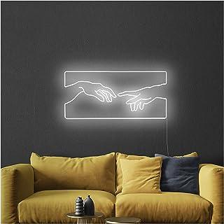 Neon Lights Handmade 21. 5 in Led Visual Bar Wall Light Up Sign Neon Decor for Room Wedding Party Wall Decor Night Light (...