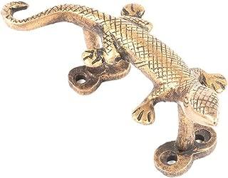 Indian-Shelf Handmade Pack of 1 Golden Decorative Lizard Brass Dresser Handles Cabinet Pull