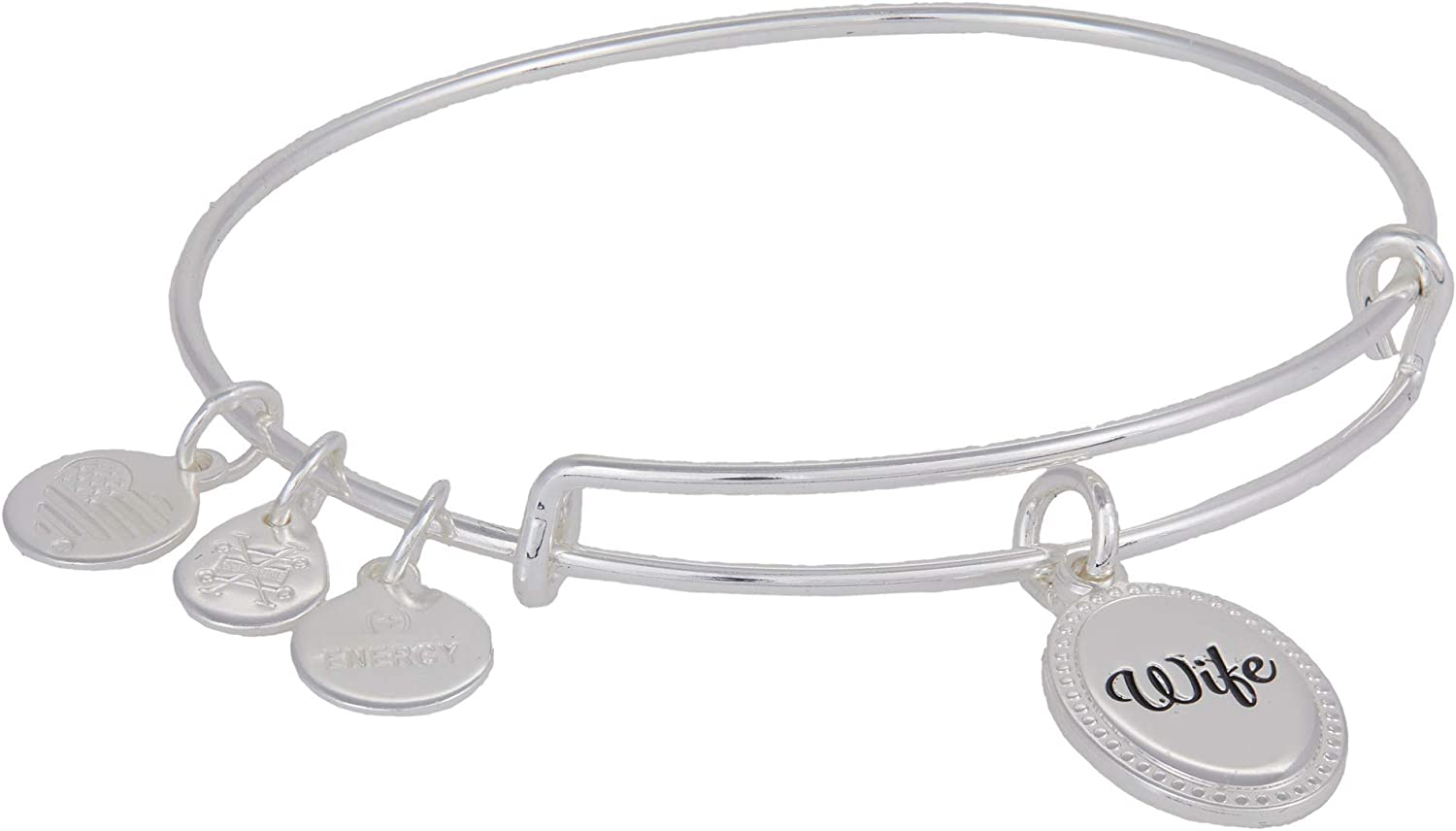 Alex and Ani Because I Love You Wife Expandable Wire Bangle