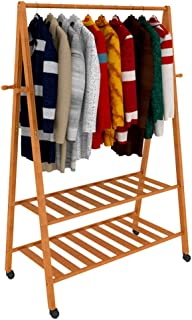 Solid wood floor bedroom drying rack hanging rack coat rack GAOFENG (Size : E.80 * 45 * 165cm)