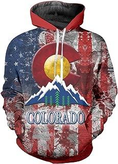 nordic runes Mens Womens American Flag Colorado Hoodies Pullover Cool Plus Size Sweatshirts