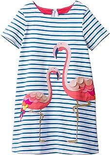 VIKITA 2018 Toddler Girls Summer Dresses Short Sleeve Outfit 3-8 Years