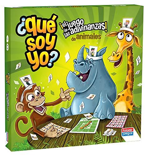 Falomir-¿Qué soy yo Animales. Juego de Mesa. Clásicos, Multicolor (31064)