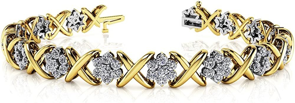 Triostar 925 Austin Mall Max 78% OFF Sterling Silver Simulated Diamond Gold Over Yellow