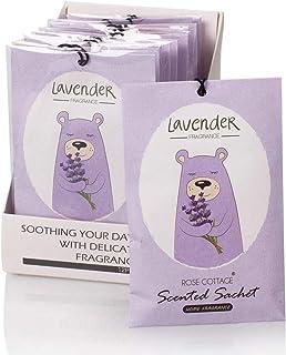 Rose Cottage 12Packs Lavender Closet Air Freshener Deodorizer Scented Sachets Bags for..