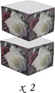 2 White Memo Note Pads - 500 Sheets - (Rose)