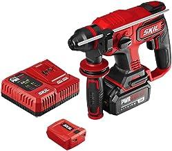SKIL PWRCore 20 Kit de martillo rotativo sin escobillas de 20 V 7/8 pulgadas, incluye batería de 5.0 Ah, cargador PWRJump ...