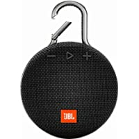JBL Clip 3 Portable Waterproof Wireless Bluetooth Speaker (Black)