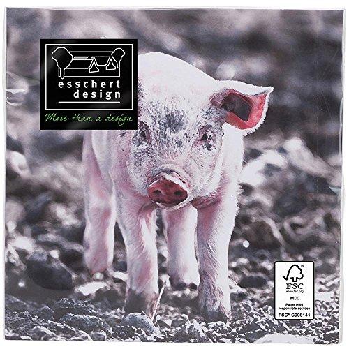 Esschert Design TP180 Cochons Serviettes en Papier – Rose