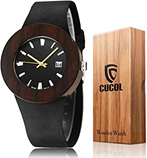 CUCOL Mens Leather Watch