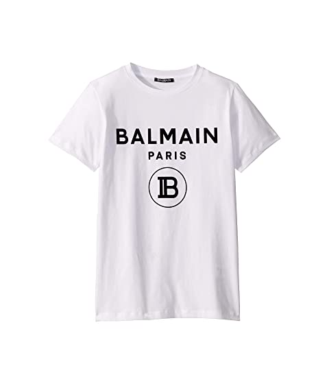 Balmain Kids Short Sleeved Logo Tee (Big Kids)
