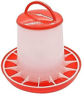 ACHICOO バケツ用具 鶏 ふたハンドル付き 供給 水まきの供給 1.5kg 送り装置