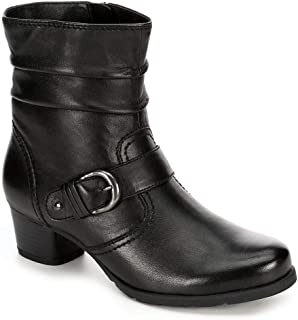Womens Selina Leather Slouch Ankle Boot Shoes