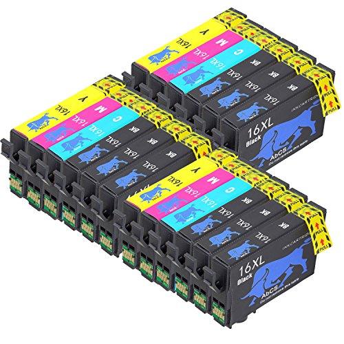 Abcs Printing Compatibili per Epson 16 16XL Cartucce inchiostro per Epson Workforce WF-2510 WF-2630,WF-2530,WF-2760,WF-2520,WF-2660,WF-2750,WF-2650, wf-2540,9 Nero, 3 Ciano,3 Magenta, 3 Giallo