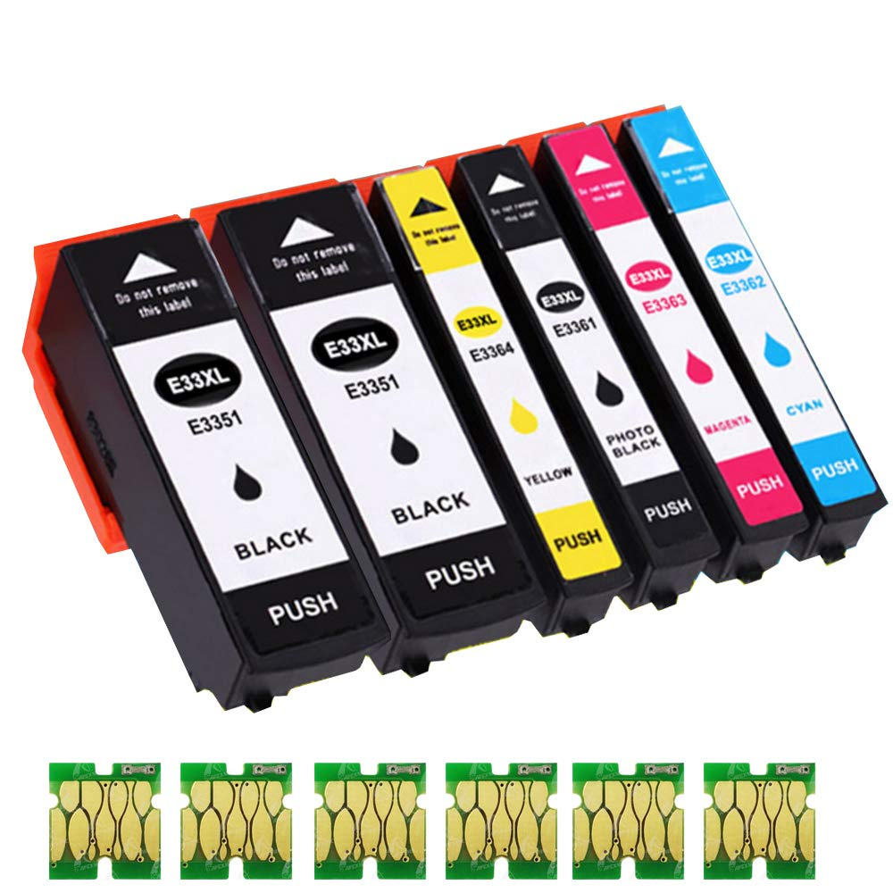 B-T 33XL - Cartuchos de tinta de repuesto para Epson 33XL 33 Epson ...
