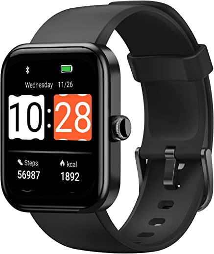 """HAFURY Smart Watch, Alexa & Microphone Built-In, 10-Day Battery, 1.69""""Display Fitness Tracker, Blood Oxygen, Heart Rate, Sleep, Stress Monitor,..."""