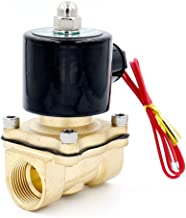 Baomain 3/4 inch Brass Electric Solenoid Valve Water Air Fuels N/C Valve AC 220V